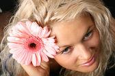 Flowered girl — Stock Photo