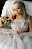 Blondie bride — Stock Photo