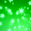 Green star background - Stock Photo