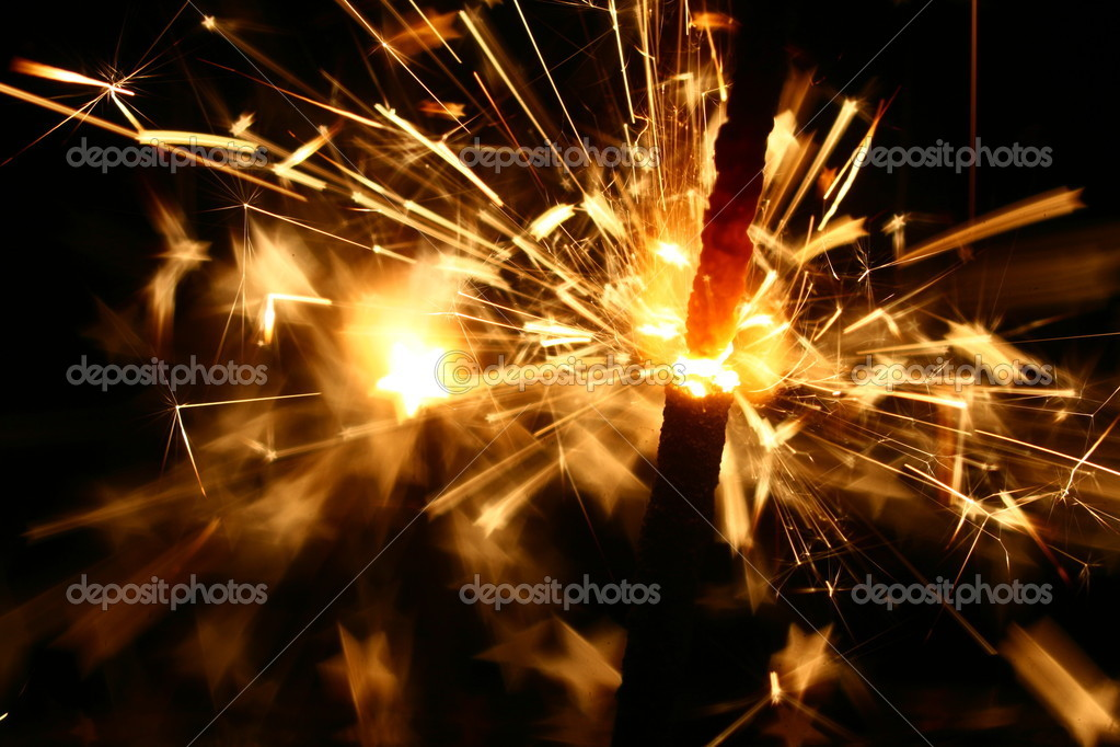 Sparkler fire macro background close up — Stock Photo #10406865
