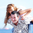 Hug see on sea — Stock Photo
