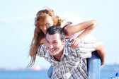 Hug see on sea — Stock Photo