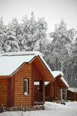 Winter haeuser — Stockfoto