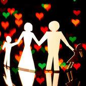 Papper familj — Stockfoto