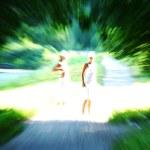 Woman run — Stock Photo #10533001