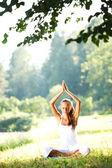 Yoga del loto — Foto Stock