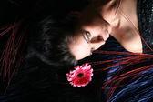 Flores del pelo rosado — Foto de Stock