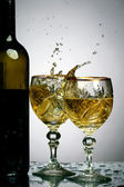 Wine splash — Stock Photo