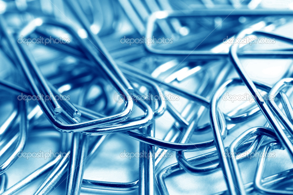 Paper clips macro close up — Stock Photo #10617763