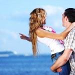 Hug see on sea — Stock Photo #10635377