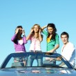 Friends in car — Stock Photo #10635454