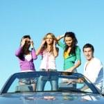 Friends in car — Stock Photo #10635454