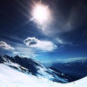 Vrchol hory — Stock fotografie