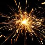 Yellow sparkler — Stock Photo #10643630