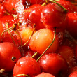 Sweet cherry under wet - Stock Photo