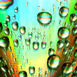 Multicolored waterdrops — Stock Photo #10645368