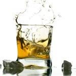 Whisky splash — Stock Photo