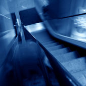Blurred escalator — Stock Photo