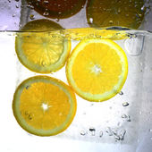 氷オレンジ — ストック写真