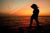 Sunset girl — Stock Photo