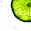Lime slice in water — Stock Photo #7966952