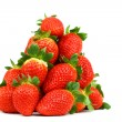 Strawberry pile isolated — Stock Photo