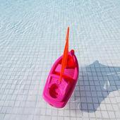 Toy ship pool — Stock Photo