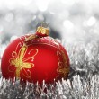 Red christmas ball — Stock Photo #8024130