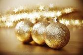 Gouden kerstmis — Stockfoto