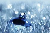 Blå julkort — Stockfoto