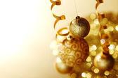 Goldene weihnachten — Stockfoto