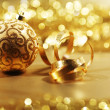 Stock Photo: Golden christmas card