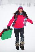 冬のショッピング — ストック写真