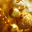 Golden christmas - Stockfoto