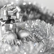 Silver christmas card — Stock Photo #8080104