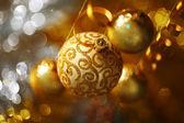 золотое рождество — Стоковое фото