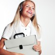 Business woman in a headset — Stock Photo #8527920