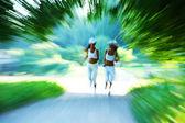 žena běh — Stock fotografie