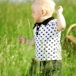 jongen in gras — Stockfoto #8564475
