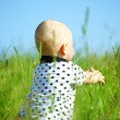 Foto Stock: Boy in grass