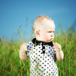 Boy in grass — Foto de stock #8564495