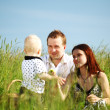 Happy family picnic - Stockfoto