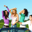 Joy in cabriolet — Stock Photo #8565357
