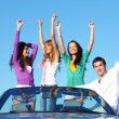 Joy in cabriolet — Stock Photo #8565362