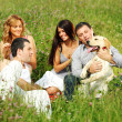 Friends and dog — Stock Photo #8566230