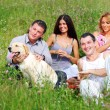 Friends and dog — Stock Photo #8566240