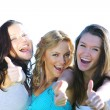 Success girlfriends — Stock Photo