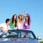 Friends in car — Stock Photo #8567900