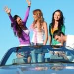 Friends in car — Stock Photo #8567909