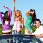 Friends in car — Stock Photo #8567918